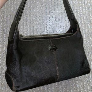 Authentic Tod's cow hide leather small brown bag